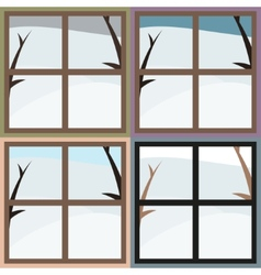 Winter view from the window vector