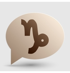 Capricorn sign  brown gradient icon vector
