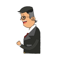 Isolated businessman design vector
