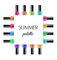 Summer palette frame vector