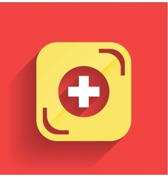 Health help icon flat design vector