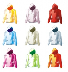 Hoodies set vector