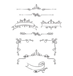 Collection of ornaments vector
