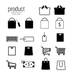 Set of shopping icons vector