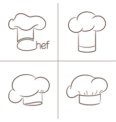 Chef hats vector