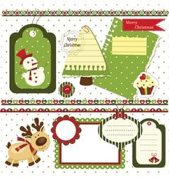 Christmas scrapbook set 2 vector