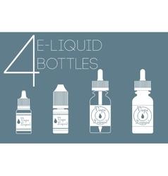 4 e-liquid bottles vector