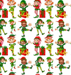 Seamless christmas vector image