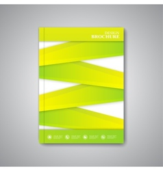 Modern abstract template layout brochure magazine vector
