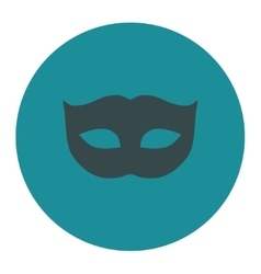 Privacy mask flat soft blue colors round button vector