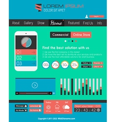 Modern flat style ui interface designs vector