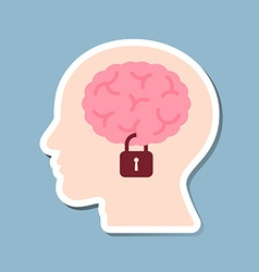 Brain lock in human head vector