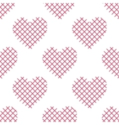 Seamless pattern with striped hearts vector