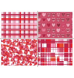 Seamless patterns of hearts for valentine day vector