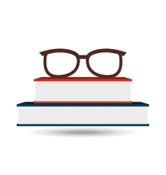 Books and glasses design vector