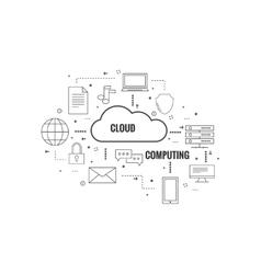 Network cloud computing vector