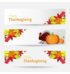 banners for Thanksgiving Day vector image vector image
