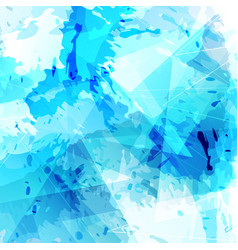 Bright blue paint and triangle modern background vector
