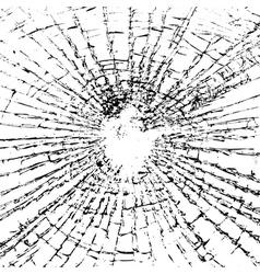 Broken glass grunge texture black white vector