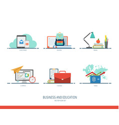 business and education icon vector image vector image