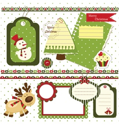 Christmas scrapbook set 2 vector