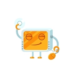Content Little Robot Character vector image