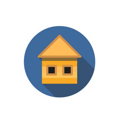 flat house icon question with a long shadow icon vector image