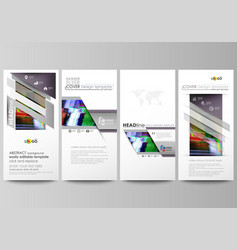 flyers set modern banners business templates vector image