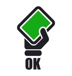 green card icon vector image