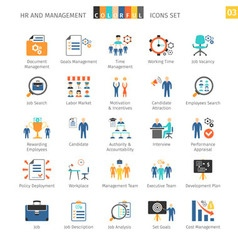Human resources flat set 03 vector