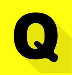 Letter q sign design template element black icon vector