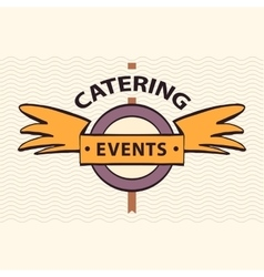 Logo restaurant cafe for exclusive events vector
