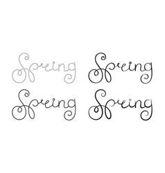 Ornate lettering spring vector