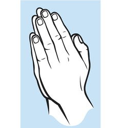 Praying hands vector image vector image