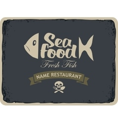 seafood restaurants with fish vector image vector image