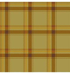 Seamless brown tartan pattern fabric vector image
