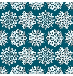 Seamless christmas pattern origami paper white vector