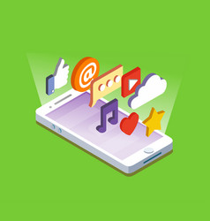 smartphone with apps vector image