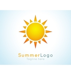 summer logo label Summer icon vector image vector image