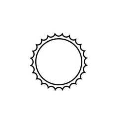 Sun line icon travel tourism vector