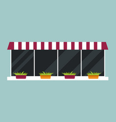 type of house windows element isolated flat style vector image vector image