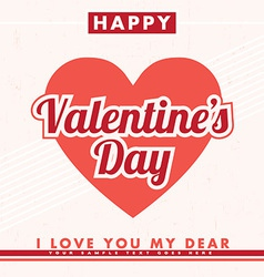 Valentines Design vector image vector image
