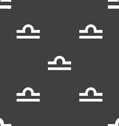 Decorative Zodiac Libra sign Seamless pattern on a vector image