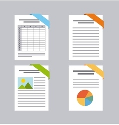 Document format flat icon vector