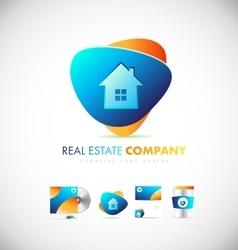 Real estate house logo icon design vector