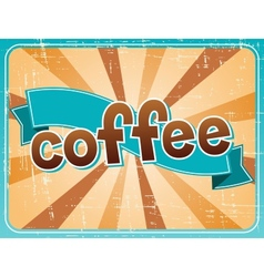 Poster with a coffee in retro style vector image
