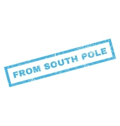 From south pole rubber stamp vector