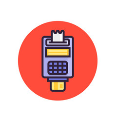 Pos terminal point of sale concept payment by vector