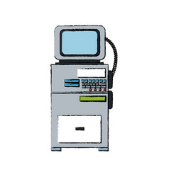 Monitoring cardiology technology equipment vector