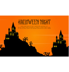 Scary castle landscape halloween day vector
